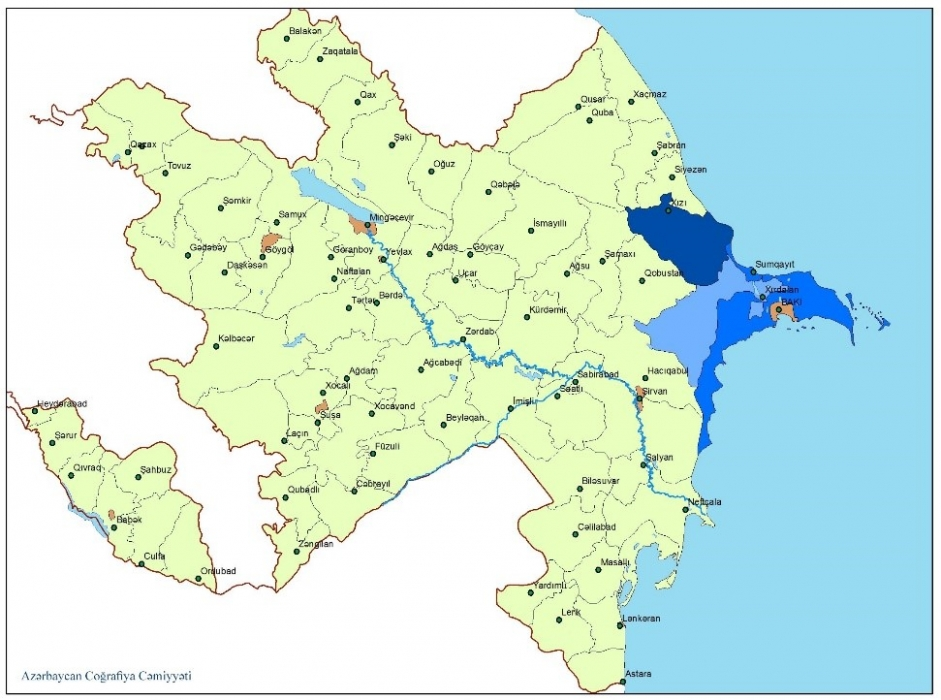 Absheron economic and geographical region Azerbaijan Geographic